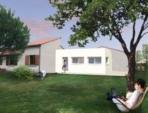 Rénovation et extension d'une maison individuelle – Lagardelle sur Lèze 31 – Maison L.